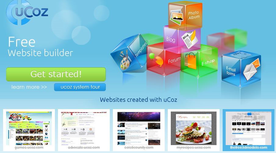 uCoz website builder review