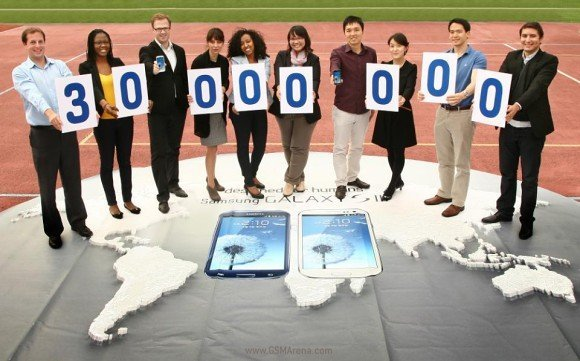 Samsung Galaxy SIII 30 million sales units