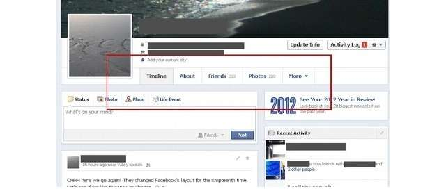 Facebook new timeline design