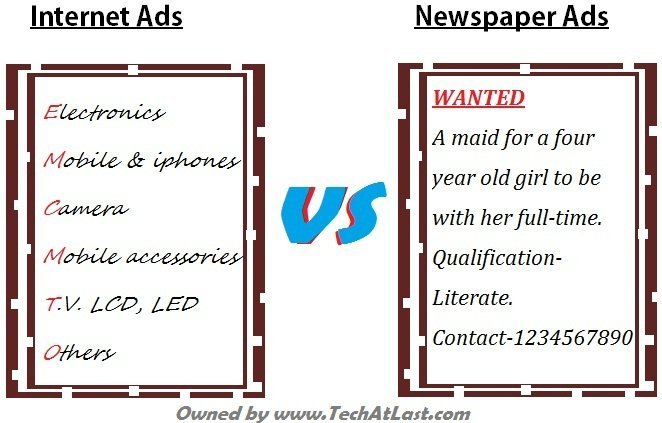 Free classifieds online vs newspaper ads